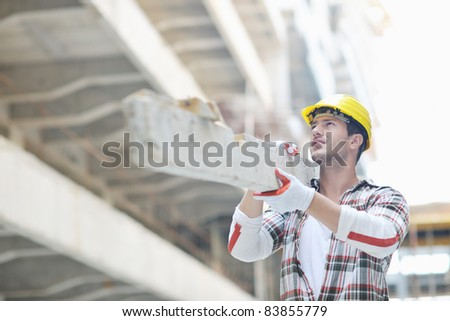 handsome hard worker people portrait at construction site
