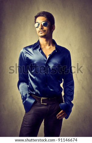 Handsome indian young man