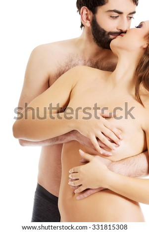 naked brest kissing and touching in grouping