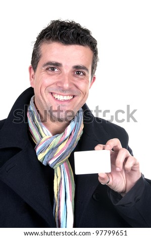 handsome man with credit card