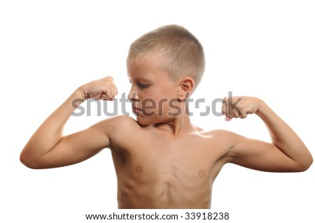 handsome muscular young man flexing biceps, isolated handsome muscular young man flexing biceps, isolated