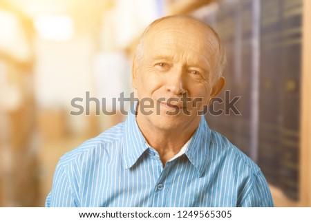 Handsome senior man standing #1249565305