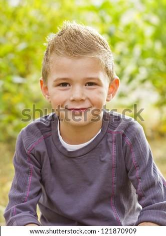 Handsome Young Boy Portrait