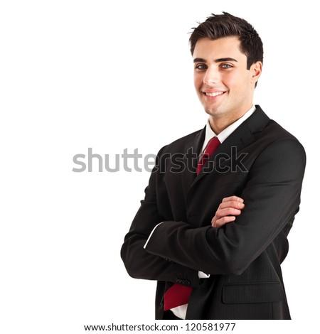 Handsome young businessman portrait