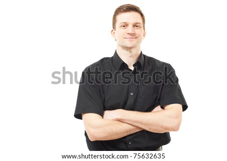 Handsome young man isolated over white
