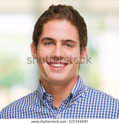 Handsome Young Man, outdoor - stock photo