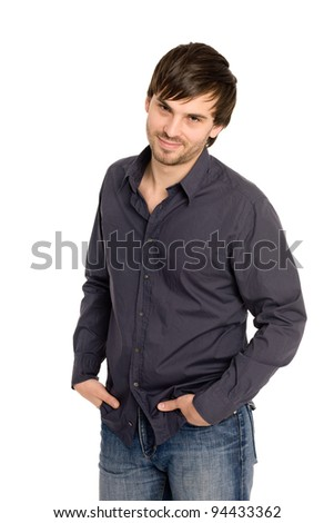 Handsome young man with hands in pockets