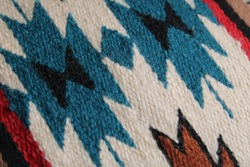 Handwoven colorful designed southwest rug