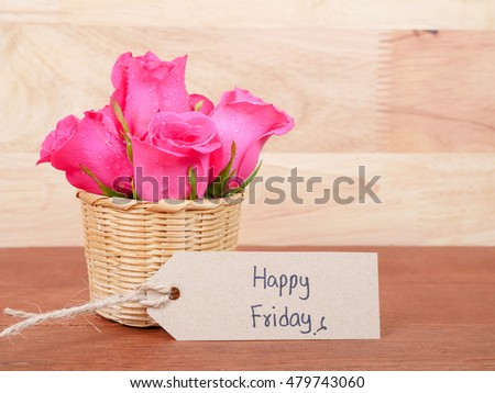 Free Photos Happy Friday On Notepad Avopixcom