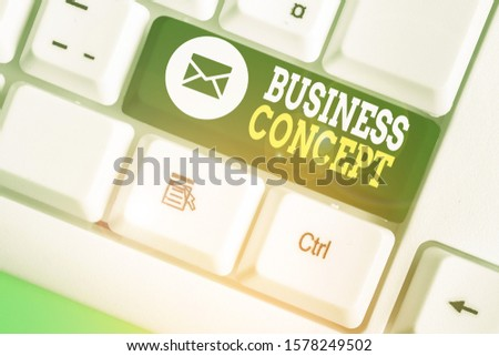Handwriting text Business Concept. Concept meaning approach to marketing or delivering an existing product. #1578249502