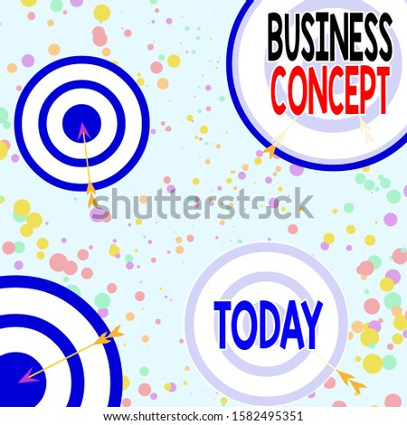 Handwriting text Business Concept. Concept meaning approach to marketing or delivering an existing product Arrow and round target inside asymmetrical shaped object multicolour design.