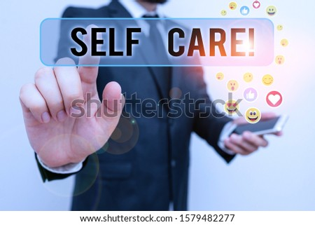 Handwriting text Self Care. Concept meaning practice of taking action preserve or improve ones own health.