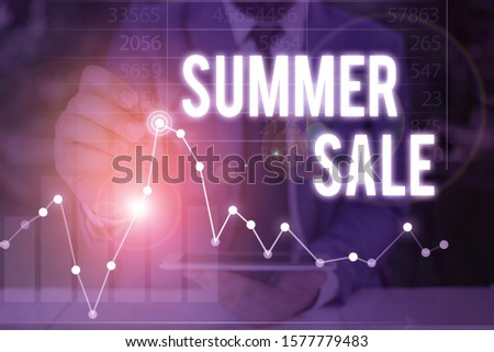 Handwriting text Summer Sale. Concept meaning time when a store sells products at much lower prices than usual.