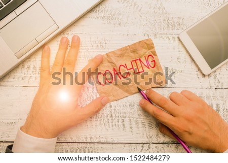 Handwriting text writing Coaching. Concept meaning demonstrating supports client in achieving specific demonstratingal goal.