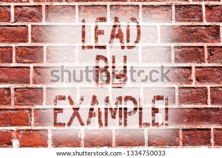 Lead By Example Concept Images and Stock Photos - Avopix com