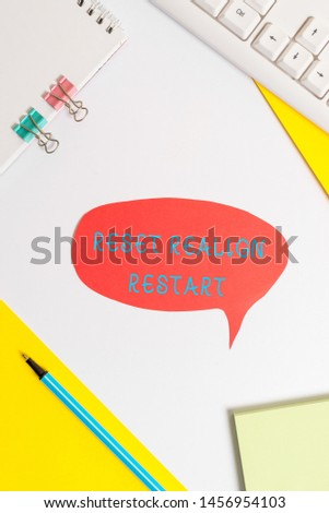 Handwriting text writing Reset Realign Restart. Concept meaning Life audit will help you put things in perspectives. #1456954103