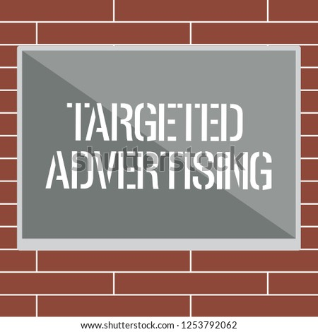 Handwriting text writing Targeted Advertising. Concept meaning Online Advertisement Ads based on consumer activity
