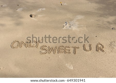 footprints in the sand words only