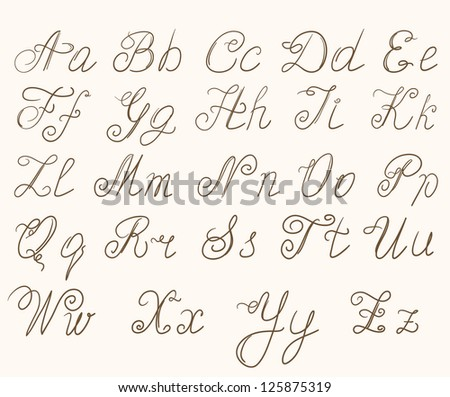 Number Names Worksheets how to write abc in cursive : The Abc In Cursive - Coffemix