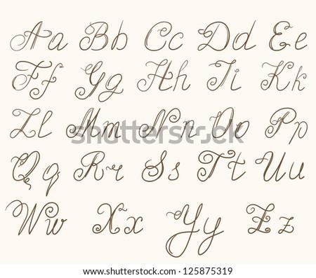 handwritten abc