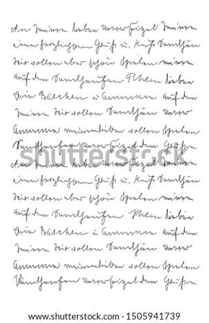 Handwritten letter. Handwriting. Calligraphy. Unreadable text. Manuscript. Script. Font. Abstract texture background Foto stock ©