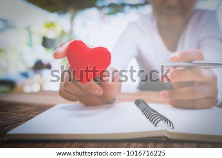 Handwritten love letters and notes  valentine's day #1016716225