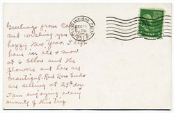 Handwritten Post Card from San Francisco