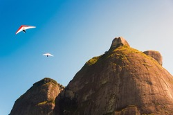 Hang Gliding Off the High Mountains in Rio de Janeiro, Brazil