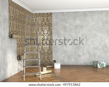 hang wallpaper; 3d illustration  Stockfoto ©