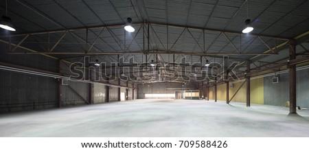 Hangar for storage. Industrial warehouse. #709588426
