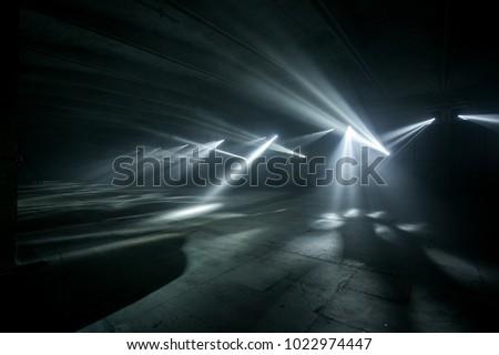 hangar room with beautiful light