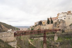 Hanged Houses (Casas Colgadas) and San Pablo bridge in Cuenca, Spain.