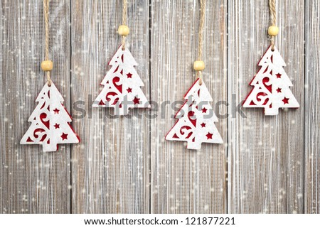 Hanging Christmas decorations