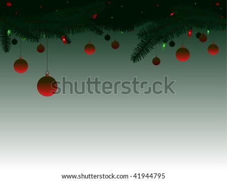 Hanging Christmas ornaments - raster #41944795