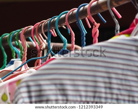 Hanging Clothes Hanging Clothes Hanging Clothes for Dry Cleaning Selecting focus only in images