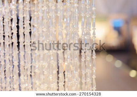 Hanging crystal balls. soft focus