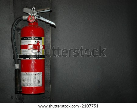hanging fire extinguisher