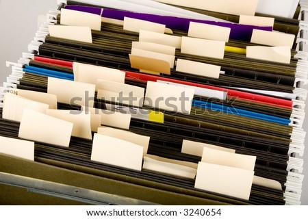 Hanging Folder and label, business concept