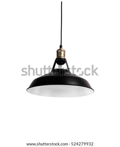 Hanging lamp, black vintage.