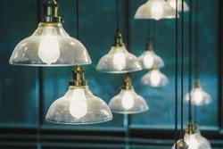 Hanging lamps for vintage retro interior decoration