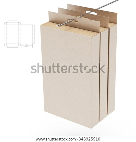 hanging retail box with die cut template ez canvas