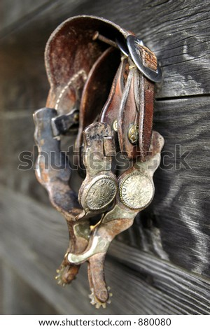 hanging spurs - stock photo