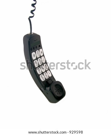 Hanging telephone receiver