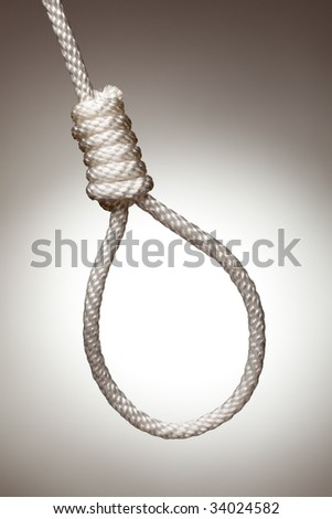 Hangman's Noose on a Spot Lit Background.