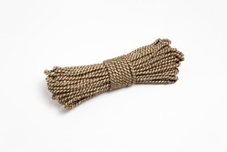 Hank of nylon rope isolated on white background.High resolution photo.