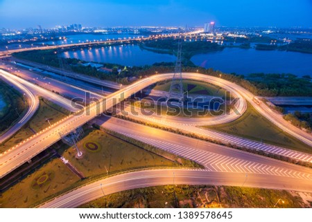 hanoi cityscape longexposure blue hour #1389578645