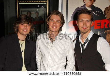 "Hanson at the Los Angeles Premiere of ""Superbad"". Grauman's Chinese Theatre, Hollywood, CA. 08-13-07"