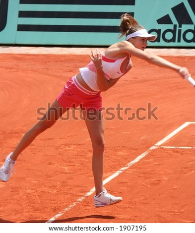 Hantuchova Serves - stock photo