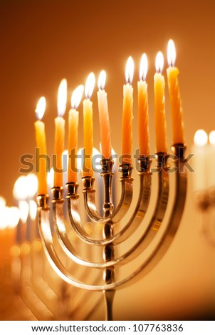 Hanukkah Candles - stock photo