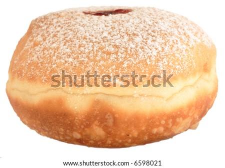 Hanukkah donut, isolated